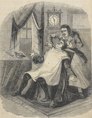 Sweeney Todd murdering the usurer by Anonymous - print