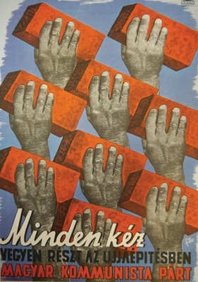 We need every hand for post-war reconstruction by Ilona Fischer - print