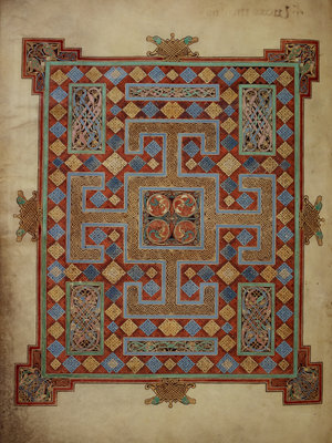 Carpet page from the Lindisfarne Gospels by Eadfrith - print