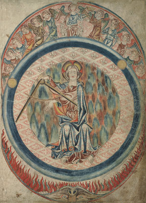 God the Creator in the Holkham Bible by Anonymous - print