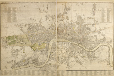 Cary map of London and Westminster, 1799 by John Cary - print