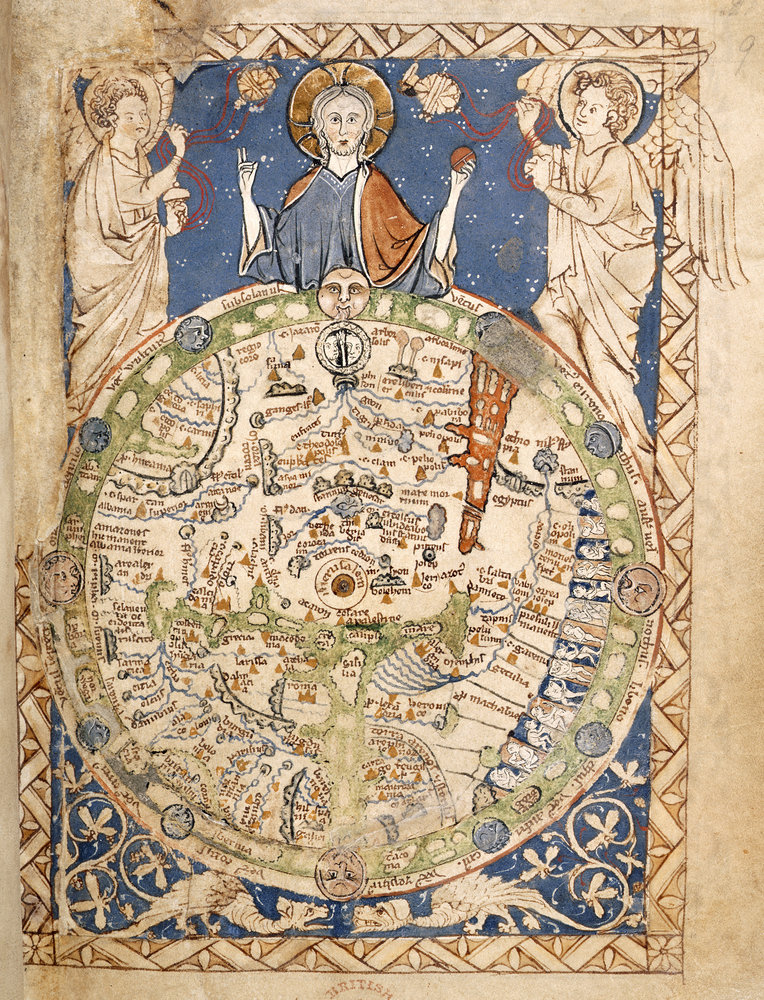 Psalter world map by anonymous british library prints psalter world map by anonymous print gumiabroncs Choice Image