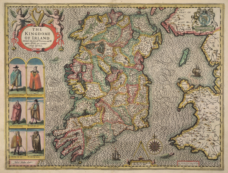 Oldest Map Of Ireland.Costume Historian January 2017