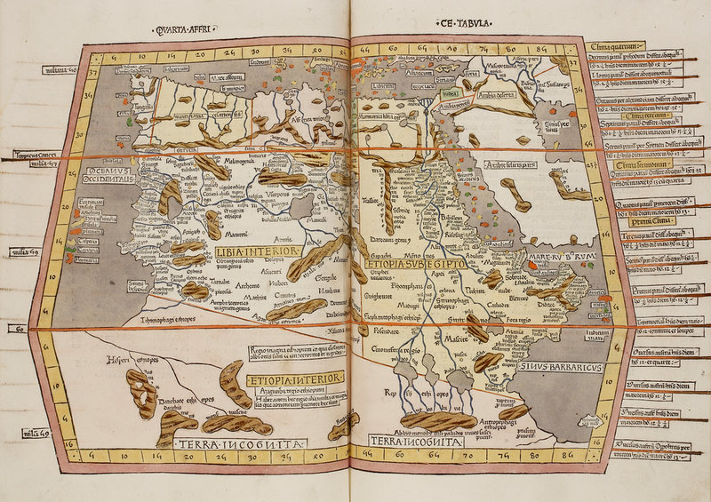 A Historic Map Of Northern Africa Ethiopia And Egypt By Anonymous - Map of egypt ethiopia
