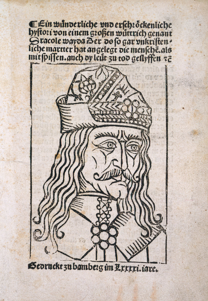 Vlad the Impaler woodcut by Anonymous - British Library Prints