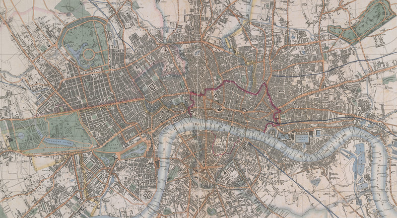Cross's Map Of London By Cross British Library Prints: Map Of London Print At Infoasik.co