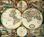 World Map by Wenceslaus Hollar - print