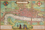Map of London by Anonymous - print