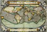 World Map by William Frazer - print