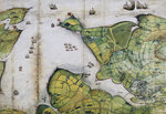Plan of Falmouth Harbour by Abraham Ortelius - print