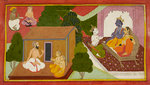 Valmiki teaches the Ramayana by Manohar - print