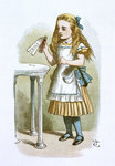 Drink me by John Tenniel - print