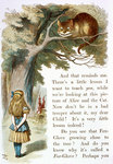 Alice and the Cheshire Cat by Sir John Tenniel - print