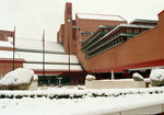 The British Library in snow by The British Library - print