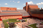 The British Library piazza by The British Library - print