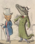 The fox and the crocodile by A Hughes - print