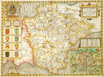 Map of Devon Postcards, Greetings Cards, Art Prints, Canvas, Framed Pictures, T-shirts & Wall Art by Christopher Saxton