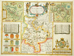 Map of Huntingdon and the surrounding area by Samuel Coleridge - print