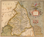 Map of Northumbria by Samuel Coleridge - print