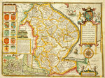 Map of Lincolnshire by John Speed - print