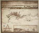 A prospect and map of London by Wenceslaus Hollar - print
