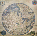 Mappa Mondo Wall Art & Canvas Prints by Petrus