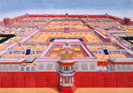 Bird's-eye view of the Red Fort, Delhi by Govardhan II - print
