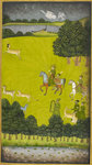 Prince Gauhar on a hunting expedition by Dharm Das - print