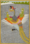Prince Gauhar and his companion rescued by the simurgh by Miskina - print