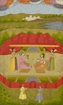 Prince Gauhar and Princess Malika-i Zamani by Lalchand - print