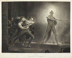 Hamlet and the Ghost by R. Graves - print