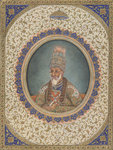 Portrait of Bahadur Shah II, the last Mughal Emperor by Balchand - print