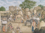 The village of Raniya in Haryana Delhi, 1815-19 by Miskina - print
