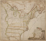 A historic map of America by Thomas Holme - print