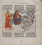 Jesus, Mary and Joseph's flight to Egypt by Anonymous - print