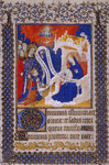 Henry VI presented by St Louis to the Virgin and Child by Jean de Meun - print