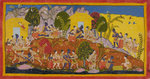Rama and his brothers reunited by Manohar - print
