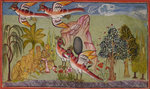 Sampati's wings grow by Manohar - print