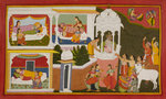 The birth of Rama by Manohar - print