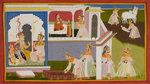 The birth of Sita and bringing of the bow by Manohar - print