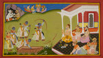 Rama breaks Siva's bow by Manohar - print