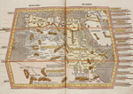 A historic map of Northern Africa, Ethiopia and Egypt by Abraham Ortelius - print