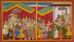 Rama is anointed as King of Ayodha by Anonymous - print