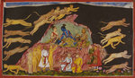 Sugriva sends out the monkeys to rescue Sita by Manohar - print