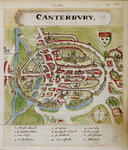 A historic map of Canterbury