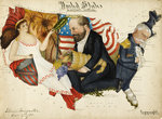 Cartoon map of the 1880 US Presidential Election by B Prorokov - print
