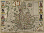 Map of the Kingdom of England Wall Art & Canvas Prints by Christopher Saxton