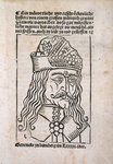 Vlad the Impaler woodcut by Paul Thiriat - print