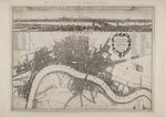 Wenceslaus Hollar's Map of London by Thomas Tegg - print