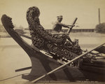 Stern of a laung-zat or rice boat by Samuel Bourne - print
